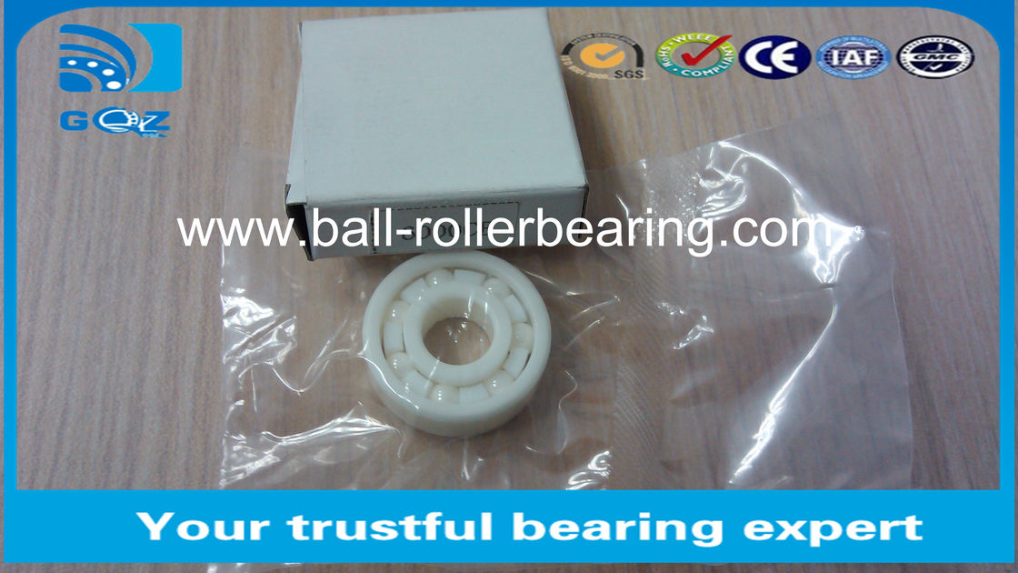 6004CE ZrO2 Si3N4 Deep Groove Ceramic Ball Bearings Cold Resistance 20 X 42 X 12 mm