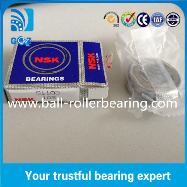 OD 30mm Teel Cage Ball Thrust Bearings 51103 Heavy Load ISO9001 Certification