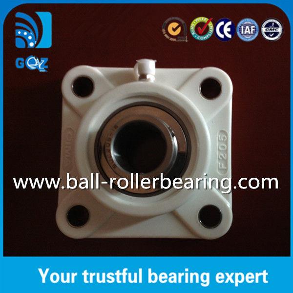 White Housing Plastic Pillow - Block Linear Ball Bearings Durability UCF205-16