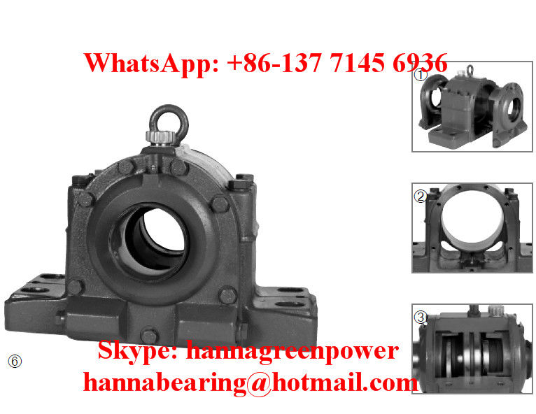 HFOE 218 BL Plummer Block With Oil Conveying Ring For PA Fan 90x410x250mm