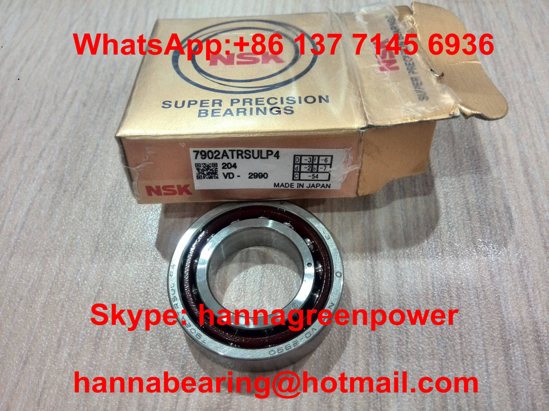 Outer Ring Guided 7906CTRDULP4 Precision Double Row Angular Contact Bearing 30x47x18mm