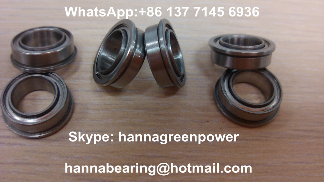 Flange Type Deep Groove High Precision ball bearing With Rubber Seals F63800-2RS