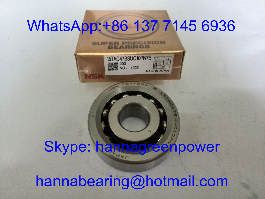 15TAC47BSUC10PN7B / 15TAC47CSUHPN7C Angular Contact Thrust Ball Bearing for Ballscrew 15x47x15mm