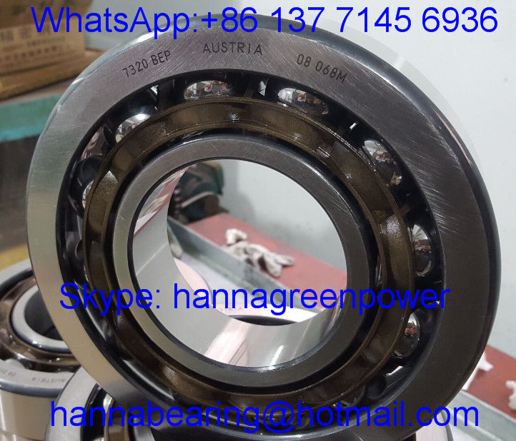 7320BEP Nylon Cage Angular Contact Bearing 7320BEM Brass Cage Ball Bearing 100*215*47 mm