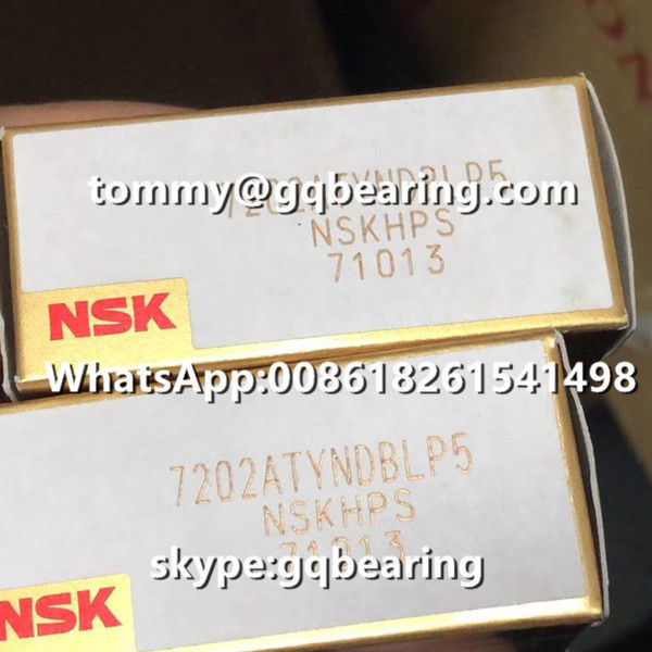 P5 Precision Light Preload NSK 7202ATYNDBLP5 Angular Contact Ball Bearing